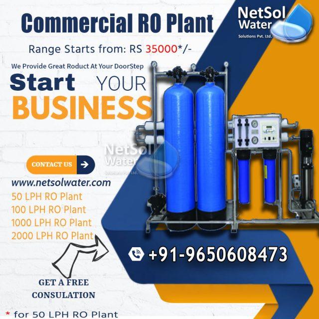 Commercial RO Plant Range 50 LPH-2000 lph price 35000