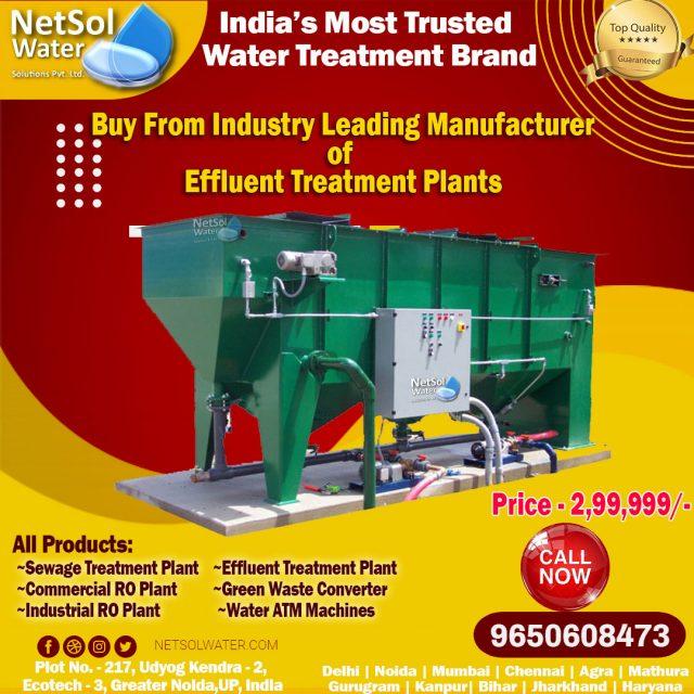 Effluent Treatment Plant Manufacturer - 9650608473